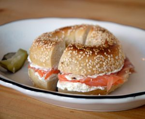 Bagels with Salmon Spread
