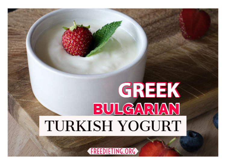 Greek Bulgarian Turkish Yogurt Types