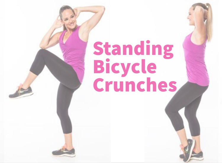 Standing Bicycle Crunches